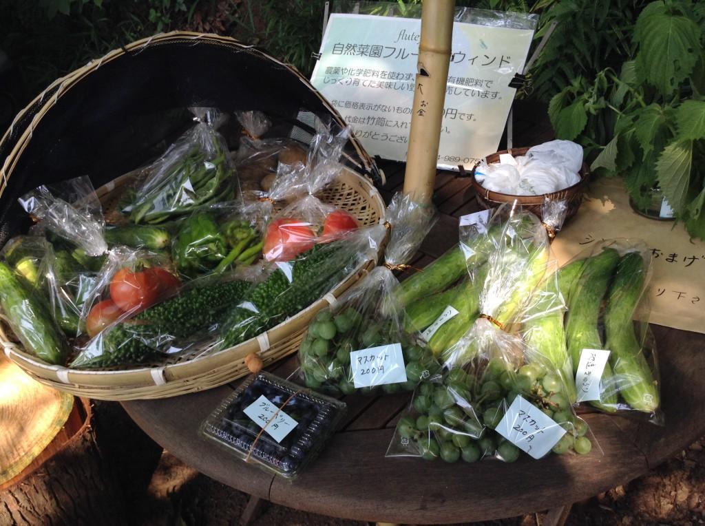 自然栽培野菜販売スタンド